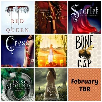 February TBR books